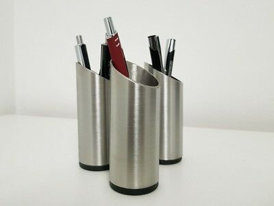 Edelstahl Stiftehalter Besteckhalter Zahnbürstenhalter aus 42,4 mm Edelstahlrohr
