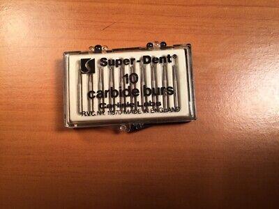 Carbide Burs Super-dent Fg 2 Round Box Of 10