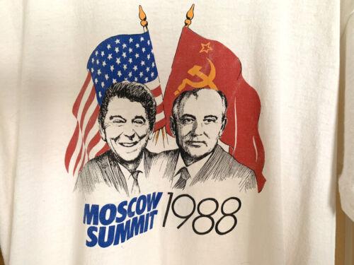 Reagan Gorbachev 1988 Official Summit T-Shirt
