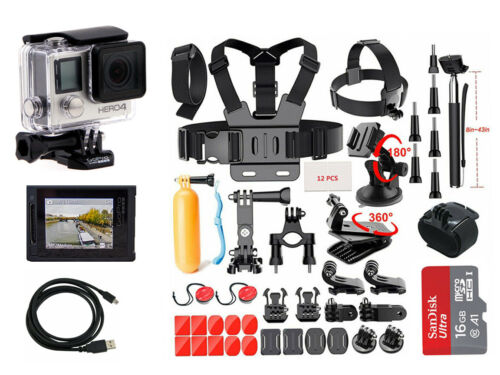 GoPro HERO4 Silver Edition Touchscreen Camera + 40 Pcs Extreme Sports Accessory