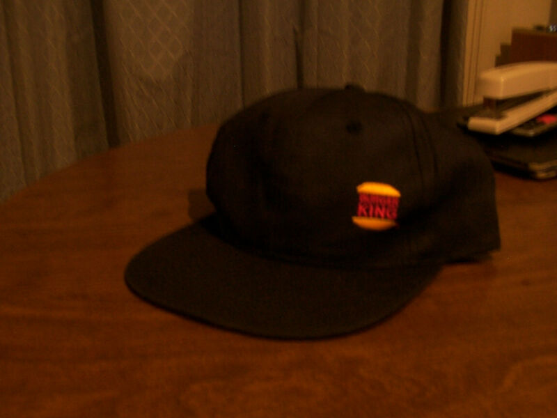 NEW Burger King Hat 1997 Crew Adjustable Dark Navy Blue Collectible