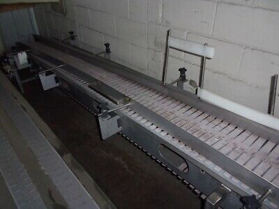 16 Inch Wide Stainless Steel Sanitary Incline Slat Top Conveyor 118 Inches Long