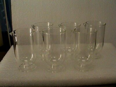 Set Of Six 250 Ml Glass Flask For Z Series Coulter Particle Counter Beckman