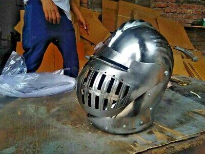 Best Medieval Helmet Full Face Battle Ready Steel Medieval LARP Helmet