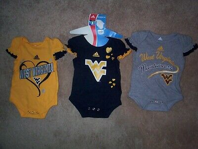 Newborn Football Jersey Shirt - (3) West Virginia Mountaineers INFANT BABY NEWBORN Jersey Shirt 0-3M 0-3 Months