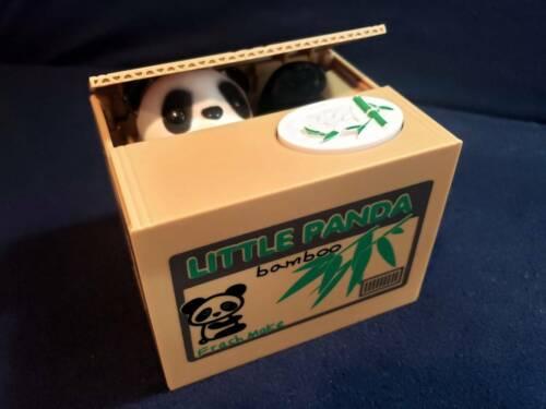 Little Panda Bamboo Stealing Coin Snatcher Savings Bank Electronic