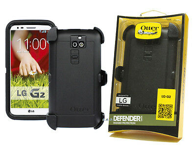 New OtterBox Defender Series for LG G2 (Original) With Holster Belt Clip