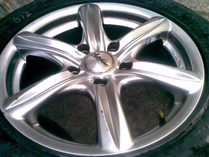 16X7 COMMODORE ADVANTI RACING RIMS AND SEMI SLICK TYRES Sydney City Inner Sydney Preview