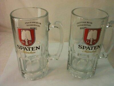 ( 2 ) Spaten Munchen Addison Oktoberfest 2008 GLASS Beer Bier Mug