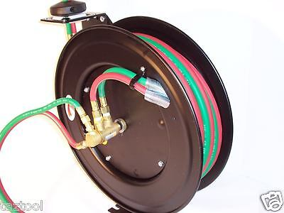 25ft 14 Id Automatic Retractable Oxygen Acetylene Welding Hose With Reel