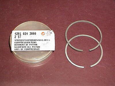New Oem Stihl Concrete Cutoff Saw 49mm Piston Rings 08 S 08s Ts 350 Ave 360 08s