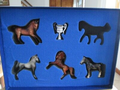 Breyer 2001 QVC Silver Cup Series First Collection Black Drafter SM Stablemates