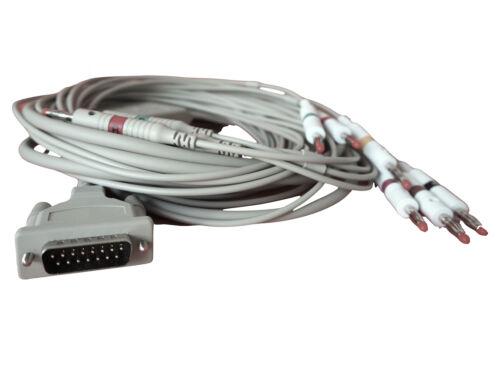 EKG-Kabel für Schiller EKG Geräte und andere  10 polig mit 4 mm,  NEU