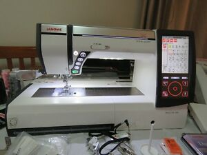 JANOME MEMORY CRAFT 12000 EMBROIDERY/SEWING MACHINE WITH 5 HOOPS Port Kennedy Rockingham Area Preview