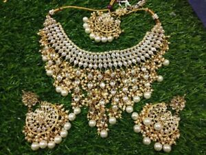 Fake jewellery earring necklace choker tikka Payel har