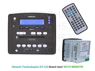 Genesis Technologies GT-2.0 AM FM CD DVD USB iPod Camper RV Radio Stereo System