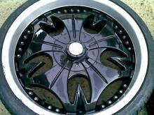20x8,5 G2 BLACK SPORT WHEELS WITH GOOD TYRES,,PCD 5X100 Elizabeth Town Meander Valley Preview