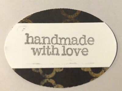 Amazing 2 inches wide handmade with love tags - set of 50 pieces!