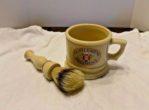 Vintage Gentlemen Regiment  Shaving Mug & Brush