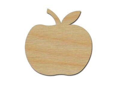 Apple Wood Shape Cut Out Unfinished Wooden Fruit Laser Cut Craft Supplies - Wood Craft Supplies