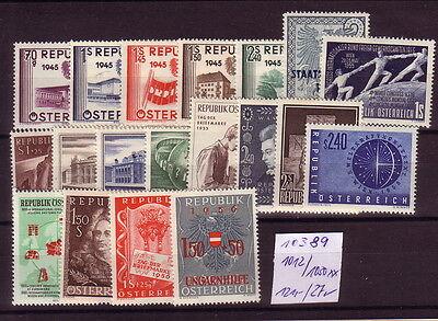 Österreich   **  1012/1030       Michel  121.-    K  10389