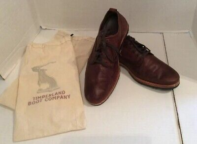 Men's Timberland Boot Company Bardstown Plain Toe Brown Oxford Sz10 Used