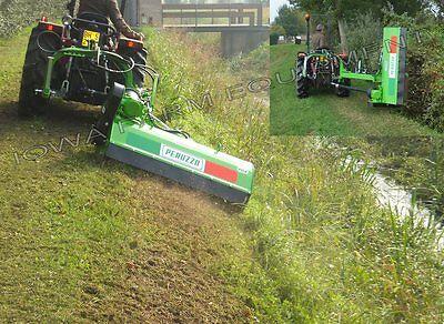48 Ditch Bank Flail Mower Peruzzo Fox Cross 1200 18-35hp Hyd Offset Tilt