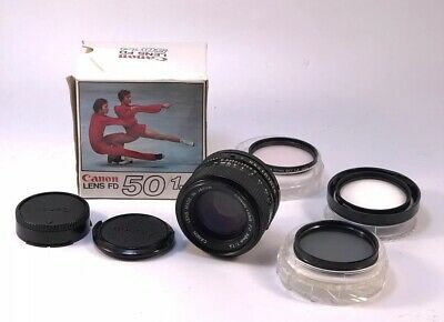 Canon FD 50mm F1.4 Near Mint Condition with Filters And Original Lens Box AE-1