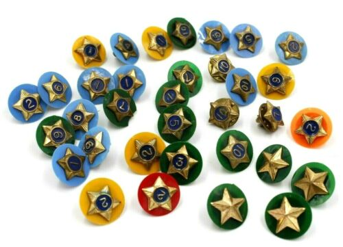 VintageLot of 34 Boy Scouts Service Stars BSA