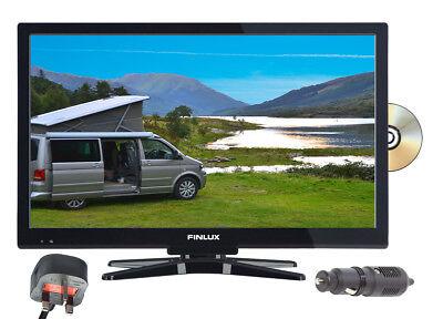 "Finlux 22"" 12V LED Full HD TV 12 VOLT 24 V. DVD Freeview, Caravan, Boat, HGV"