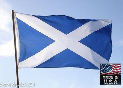 SCOTLAND Scottish Saint Andrew's Cross Saltir 3x5 SuperPoly FLAG Banner*USA MADE