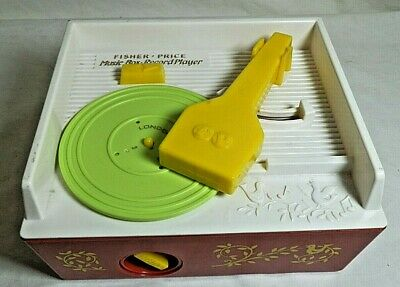 Fisher Price Record Player Music Box 5 Records 10 Classic Songs 2010, Excellent
