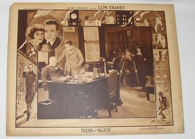Scarce original 1922 Lon Chaney Lobby Card, Flesh and Blood: collectible!