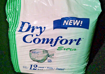 Dry Comfort Extra Briefs ((12 Underwear) Tena Dry Comfort Extra Briefs 380 Small Waist 23