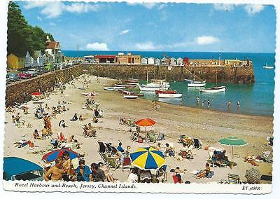 Colour Postcard of Rozel Bay & Beach, Jersey