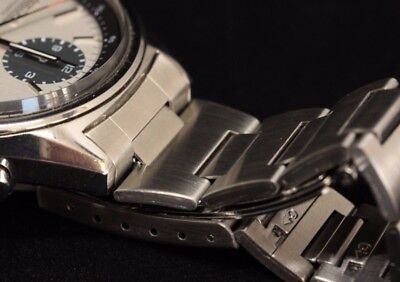 Bracelet w end links for Seiko 6138-8020 stainless steel chronograph (Steel Panda)