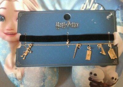 Harry Potter Kette PRIMARK Joker Kette Hut Zauberstab Toby Tobi Dobby  NEU ()