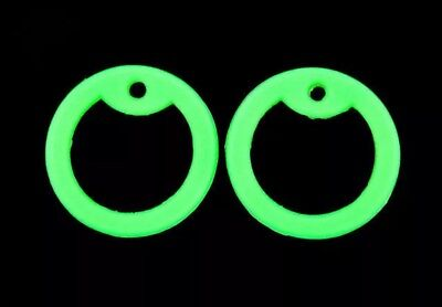 Rubber Silencer - 4 Green Glow in Dark Silicone Military Army Dog Tag Silencers Rubber Silencer