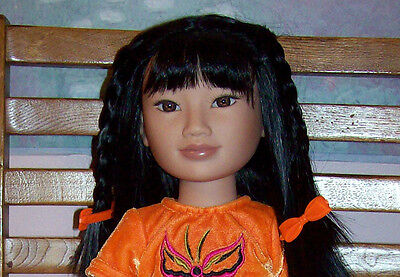 """2006 KARITO KIDS GIVE 21"""" WAN LING ASIAN CHINESE Doll Excellent"""