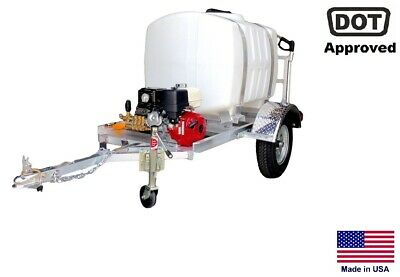 Pressure Washer Commercial - Trailer Mounted 13 Hp - 200 Gallon - Highway Ready