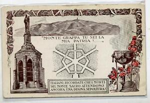 Monte-Grappa-tu-sei-la-mia-Patria-Ossario-WWI-Art-Nouveau-PC-Circa-1915-Italy