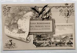 Festa-del-Genio-50-Anniversario-Resa-di-Gaeta-WWI-Art-Nouveau-PC-1911-Italy