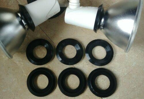 """8 Pack Outdoor Home Floodlight Spotlight Gasket Washer 2"""" PAR38 Bulb Socket Seal"""