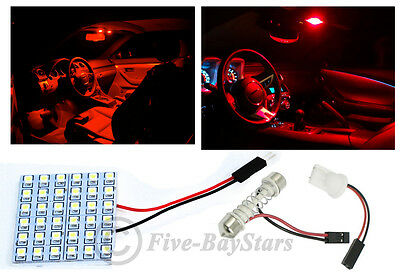 Universal Dome - 2pcs T10  Festoon Universal 36 SMD Plasma Red LED Panel Interior Dome Map Light