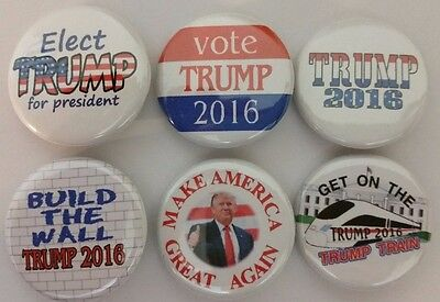 Elect Donald TRUMP Badge Button Pin Campaign Support Endorsement set of 6