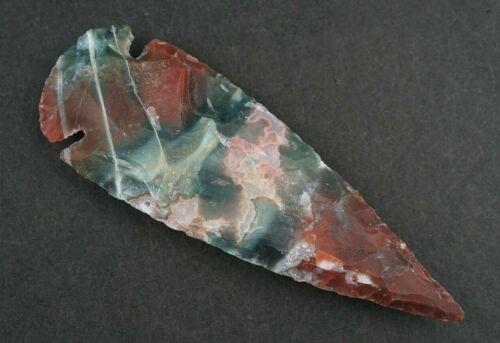 """Unreal Color 4"""" Flint Spearhead Ax Head Point Knife Blade Arrowhead B342"""