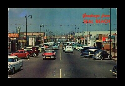 DR JIM STAMPS US CLASSIC CARS GREETINGS FORM SEAL BEACH CALIFORNIA VIEW POSTCARD
