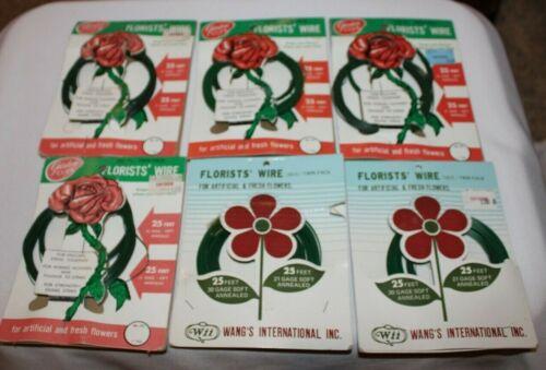 Vintage Garden Club Wangs International Florists Wire - LOT OF 6 - NIP