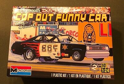 MONOGRAM TOM DANIEL PLYMOUTH DUSTER COP OUT FUNNY CAR 1:24 J&E HOBBY