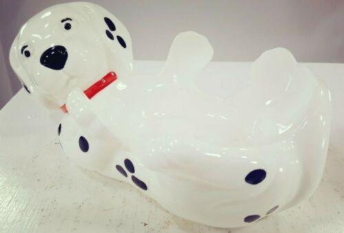 Vintage Porcelain Ceramic Speckled Dalmatian Dog Candy Bowl Collectible